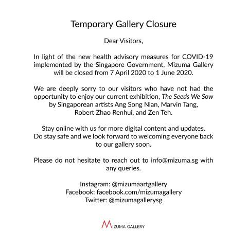 Notice to Visitors – Temporary Gallery Closure