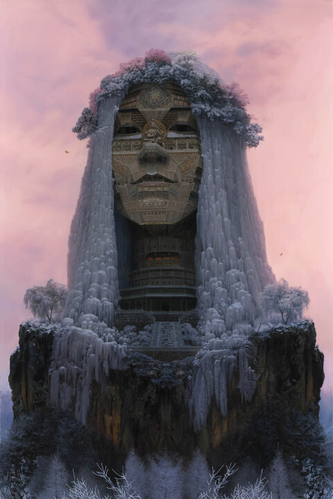 Portraits of Chinese Rockstars Imagined as Monumental Temples | Colossal