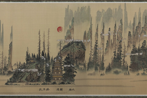 Sound Waves from Contemporary Music Become Traditional Chinese Landscapes in Du Kun's Scroll Paintings | Colossal